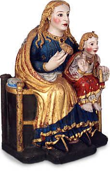 Madonna and child (Sculpture in polychrome stone from the Monastery of Tordesillas)