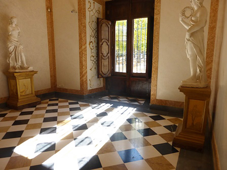 Inside view of the first floor of the Palace of La Granja